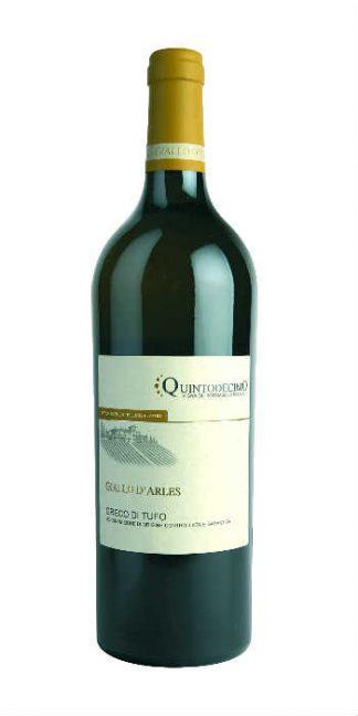 Greco di Tufo Giallo d'Arles 2016 Quintodecimo white wine - Wine il vino
