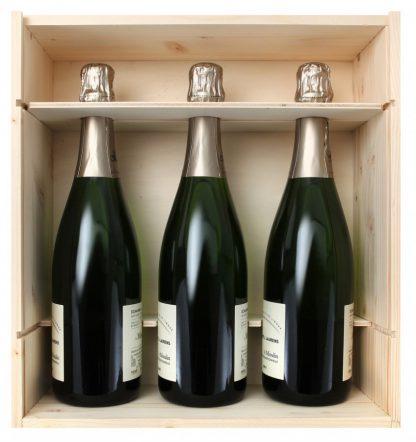 Cassetta in legno per 3 bottiglie - Wine il vino