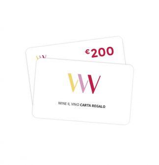 Carta regalo 200 euro - Wine il vino