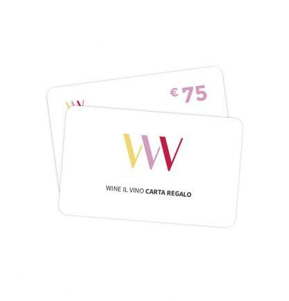 Carta regalo 75 euro - Wine il vino