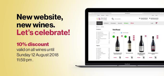 New website, new wines. 10% discount | Wineilvino.it
