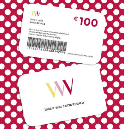 Carta regalo da 100 Euro - Wine il vino