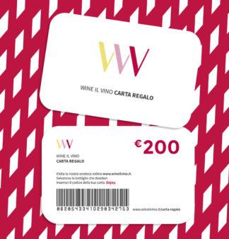 Carta regalo da 200 Euro - Wine il vino