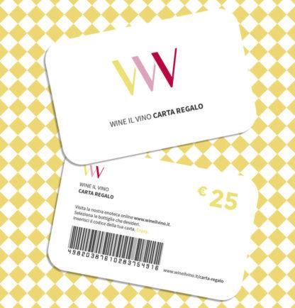 Carta regalo da 25 Euro - Wine il vino